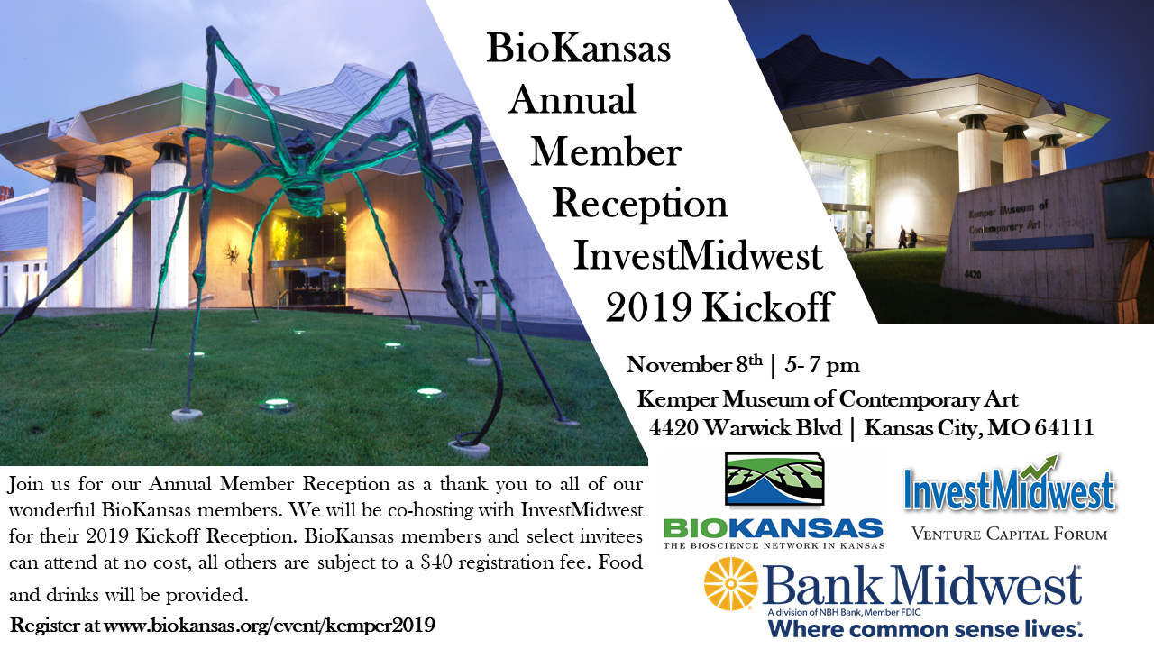 BioKansas Annual Member Reception & InvestMidwest 2019 Kickoff